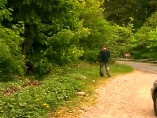 Bbw feit eldre besta med stor pupper knullet i den skog