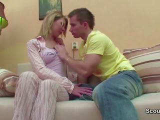 Bro Seduce Step-sister to First Fuck When Mom and Dad
