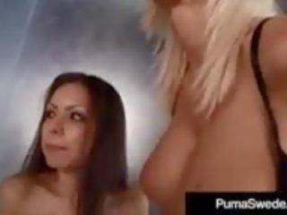 Blonde Amazon Puma Swede Licks Dick Sucking Yuri Love