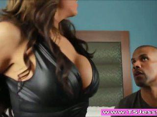 Busty latina TS Jessy Dubai anal fucked