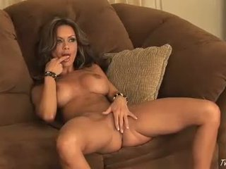 Crissy Moran on her naked body playing her wet cunt