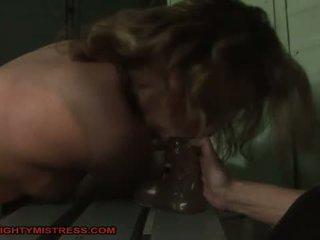 Horrid mistress dominating hot girl