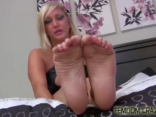voet fetish klem, femdom neuken, pov