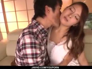 Nana Ninomiya, Hot Wife, Amazes Hubby With Full Porn