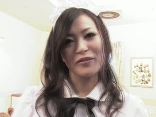 Japanese waitress fucks some guys