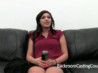 Mexican Babysitter's First Anal and Creampie