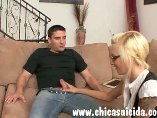 Sexy Blonde Schoolgirl gets Home Class with Her Teacher