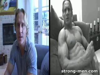 you white video, hq stud, watch muscle video