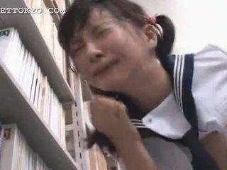 검열 - 아시아의 여학생 squirts 과 gets a 얼굴의 나는