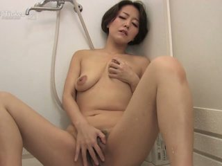 Japanese Mature Sucks Cock in Shower Uncensored JAV...
