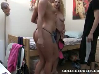 College Coeds Striptease In Losers Bedroom