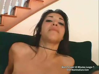 Hot brunette Screwed In The Ass And Got A Cream