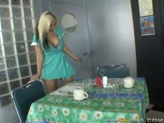 uniform porno, waitress