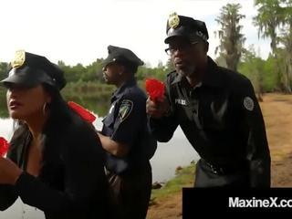 Cambodian Cop Maxine X Fucked by 7 Big Black Zombie Cocks!