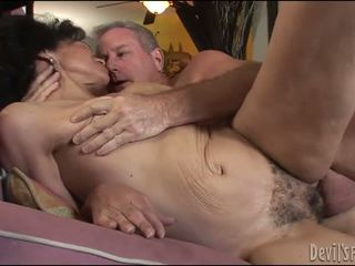 Mature Lady Gets Her Hairy Pussy Pounded Hard