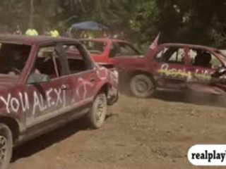 Sexy Naked Playmates Demolition Derby