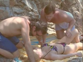 double penetration scene, threesomes scene, vintage