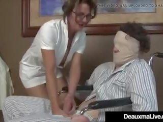 Busty Mature Nurse Deauxma Gives Patient Sloppy Hot...