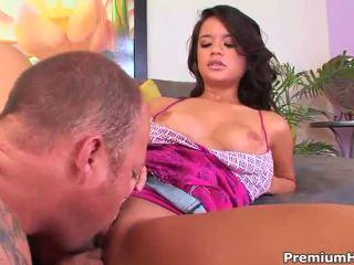 Bad girl Bliss Lei seducing a guy