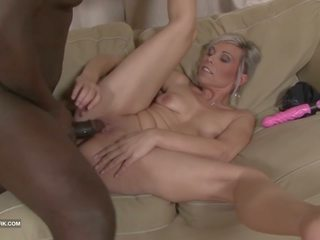 Black and White - BBC Cum Drinking Slut Likes Big Black