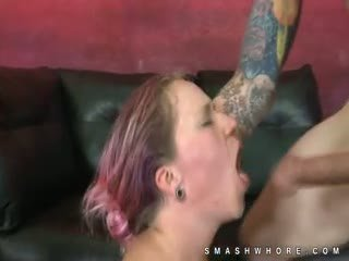 Dyed Hair Punk Extreme Rough Oral Sex