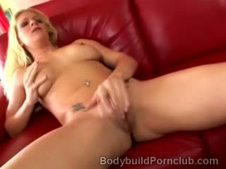 Horny Blonde Athlete Awaits Naked For Her Hunky Lover