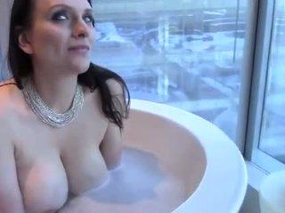 big boobs, bathtub, bath