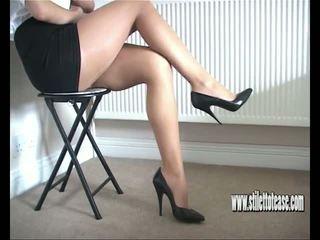 brittiläinen, babes, high heels, jalka fetissi