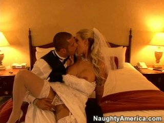 slaapkamer seks, een brides actie, vers blond mov