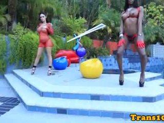 Ebony Tgirl Straponfucked By Femdom