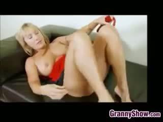 Horny Granny Masturbating And Squirting