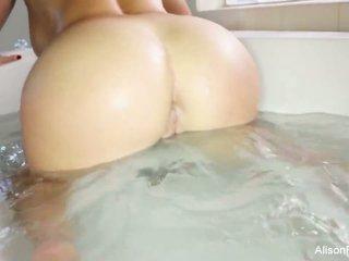 Buxom Alison Tyler takes a bath