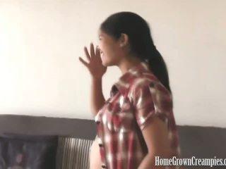 hq brunette kanaal, geschoren video-, zwanger