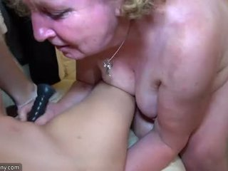 OldNanny Fat mature and young pretty girl is enjoying