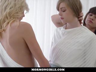 MormonGirlz - Lesbian threesome in church