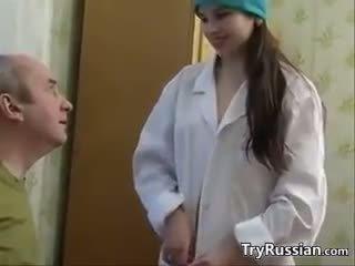 Schattig russisch verpleegster having seks