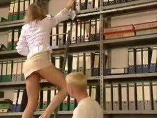 Anja Juliette Laval - Blonde office la...