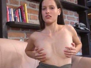 Czech beauty gaping her lovely vagina