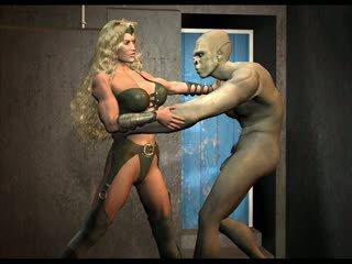 3d misto wrestling amazon battles men e creatures