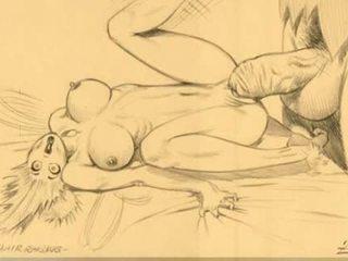 Reusachtig breast vrouwen zuigen comics