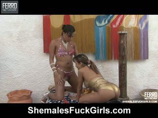 Camila bela tranny fucks gal video
