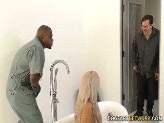 Cuckold boyfriend watches Nina Elle gets fucked by BBC