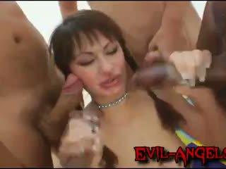 Kid jamaika - anita hengher brutally double anal gangbanged von monster cocks