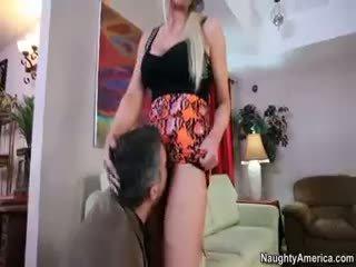 lepo blowjob, več blonde glej, kakovost hardcore koli