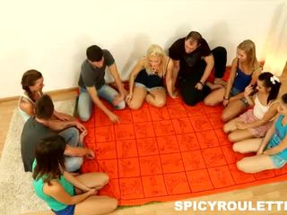 Spicy roulette: kyut teens love malaki orgies