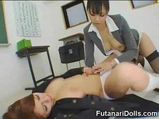 Futanari coed gets a minēts