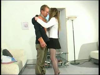 briunetė, oralinis seksas, bučiavimasis