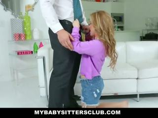Mybabysittersclub - cute young bayisitter fucks dad for mbales