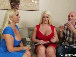 Karen Fisher And Alura Jenson Sharing A Cock
