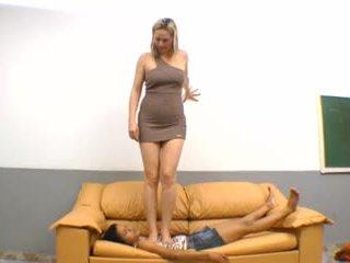 brasilialainen, jalka fetissi, femdom
